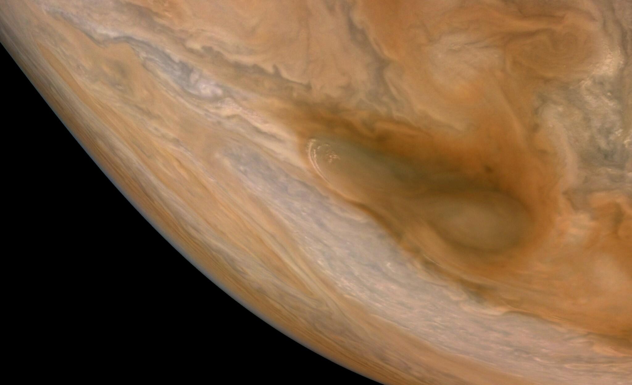 Detailní snímek planety Jupiter